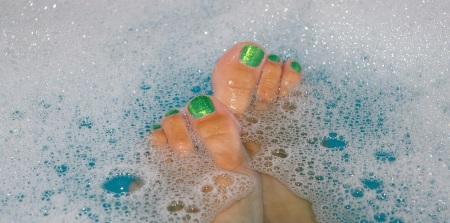 Härligt med fotbad