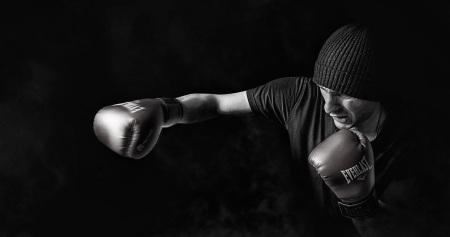 En boxningssäck kan bidra med stresslindring