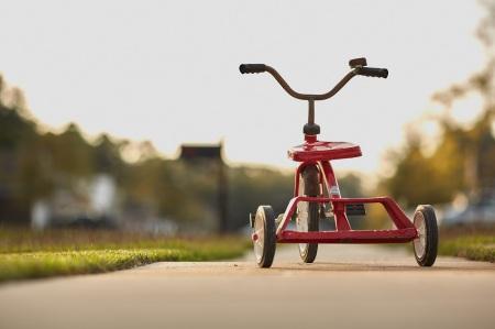 Upptäck omvärlden med en fin trehjuling.