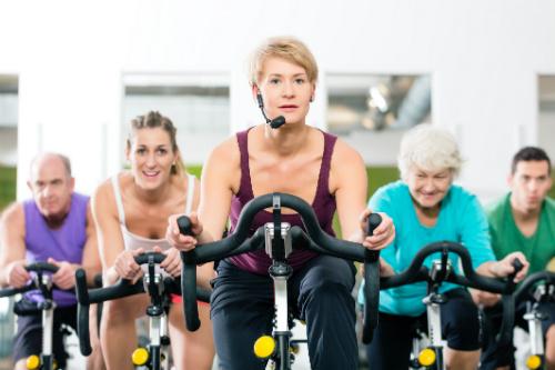 Bra träning med spinningcykel