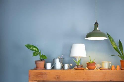 Bordslampor med vackra skärmar