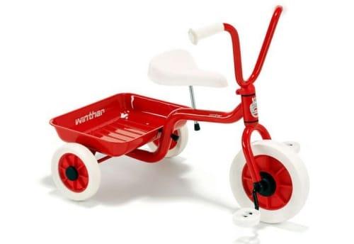 En fin trehjuling för barn.