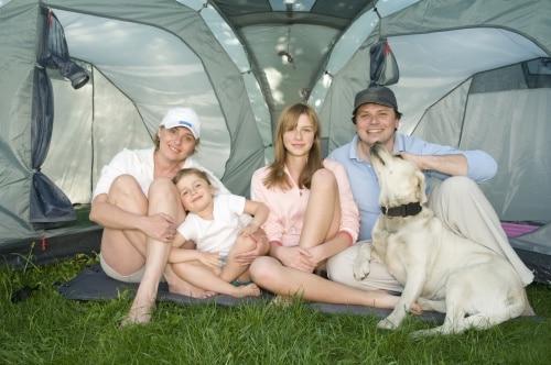 På campingplats eller i det fria