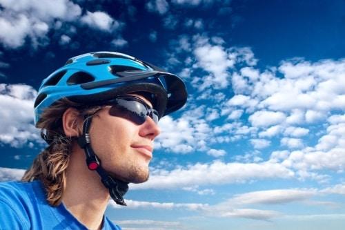 Cykelglasögon förstärker kontraster vid flatljus