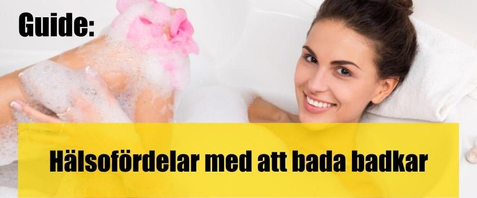 Hälsofördelar med att bada badkar