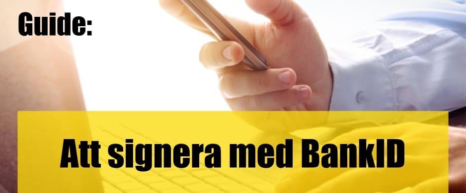 Att signera med BankID