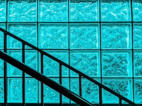 Glasblock som avskiljare