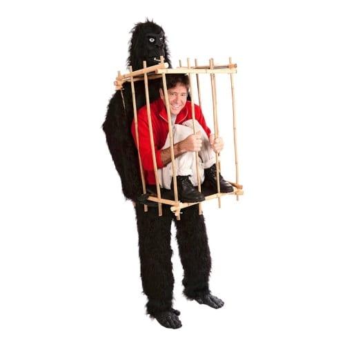 Gorilladräkt med bur