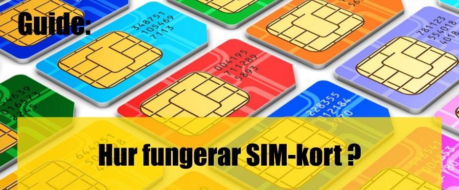 Vad är SIM-kort hur fungerar de?