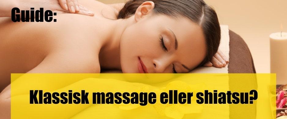 Skillnader mellan klassisk massage och shiatsu