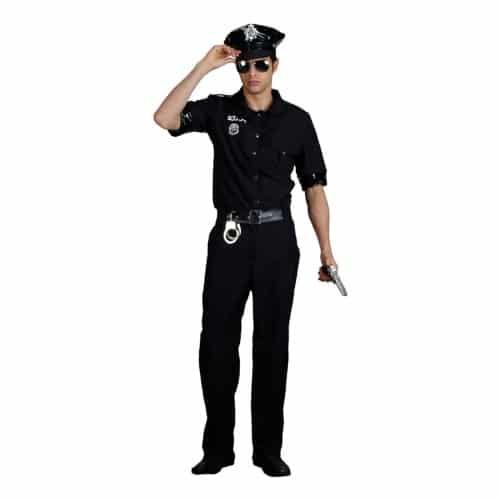Polisuniformer går att komplettera med batong, polisbricka och polishatt.