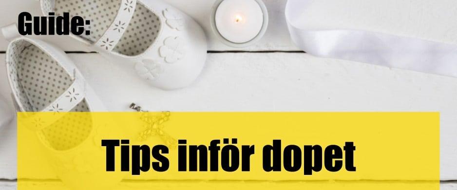 Tips inför dopet