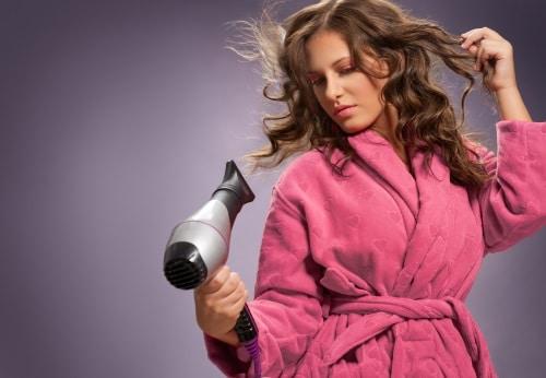 Effekt och temperatur vid val av hårtork.