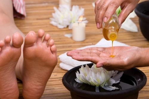 Olika populära oljor som används till massage
