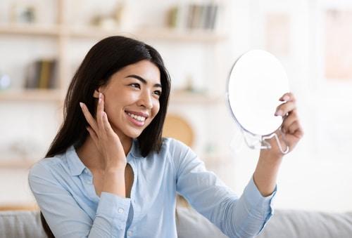 Förstoringsspegel Perfekt till såväl makeup som klippning
