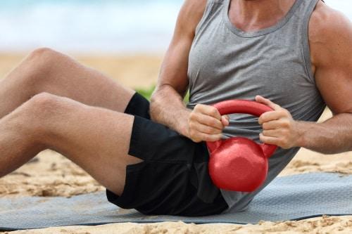 Kettlebells är perfekta för träning hemma