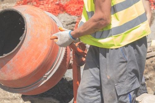 Man anger betongblandarens kapacitet i liter