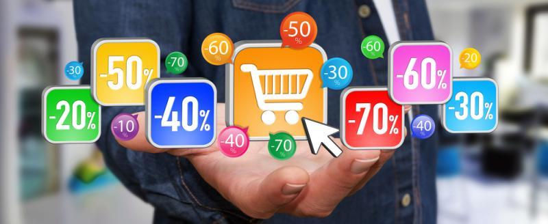 Använd rabattkoder när du handlar online.