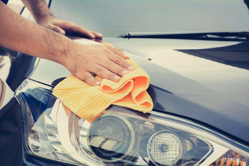 En grundligare rengöring än bilen vanligtvis får